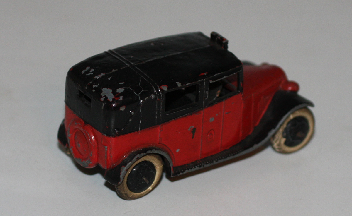 very rare dinky toys pre war 36g taxi with driver red ebay. Black Bedroom Furniture Sets. Home Design Ideas